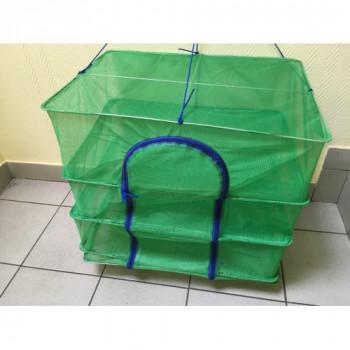 Сушилка для вяления рыбы зеленая (малая) 47х34,5х80
